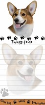 WELSH CORGI DOG DIECUT LIST PAD NOTES NOTEPAD Magnetic Magnet Refrigerator - $7.99