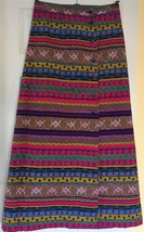 Alex Colman California Vintage Colorful Quilted Wrap Skirt LARGE 33 Waist - $39.00