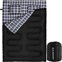 CANWAY Double Sleeping Bag, Flannel Lightweight Waterproof 2 Person Slee... - £61.49 GBP