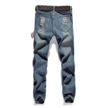 High quality men's jeans Casual  hole jeans men balmai jeans men denim trousers  image 5