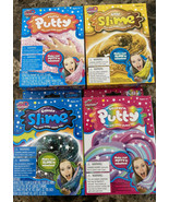 Slime Factory Unicorn Putty Kit GOLD SLIME GLITTER Fluffy Galaxy Complet... - $29.69