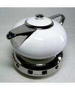 Porcelain VOGUE TEAPOT with Tea Light Warmer 850ml (28 oz) The Tea Colle... - $26.00