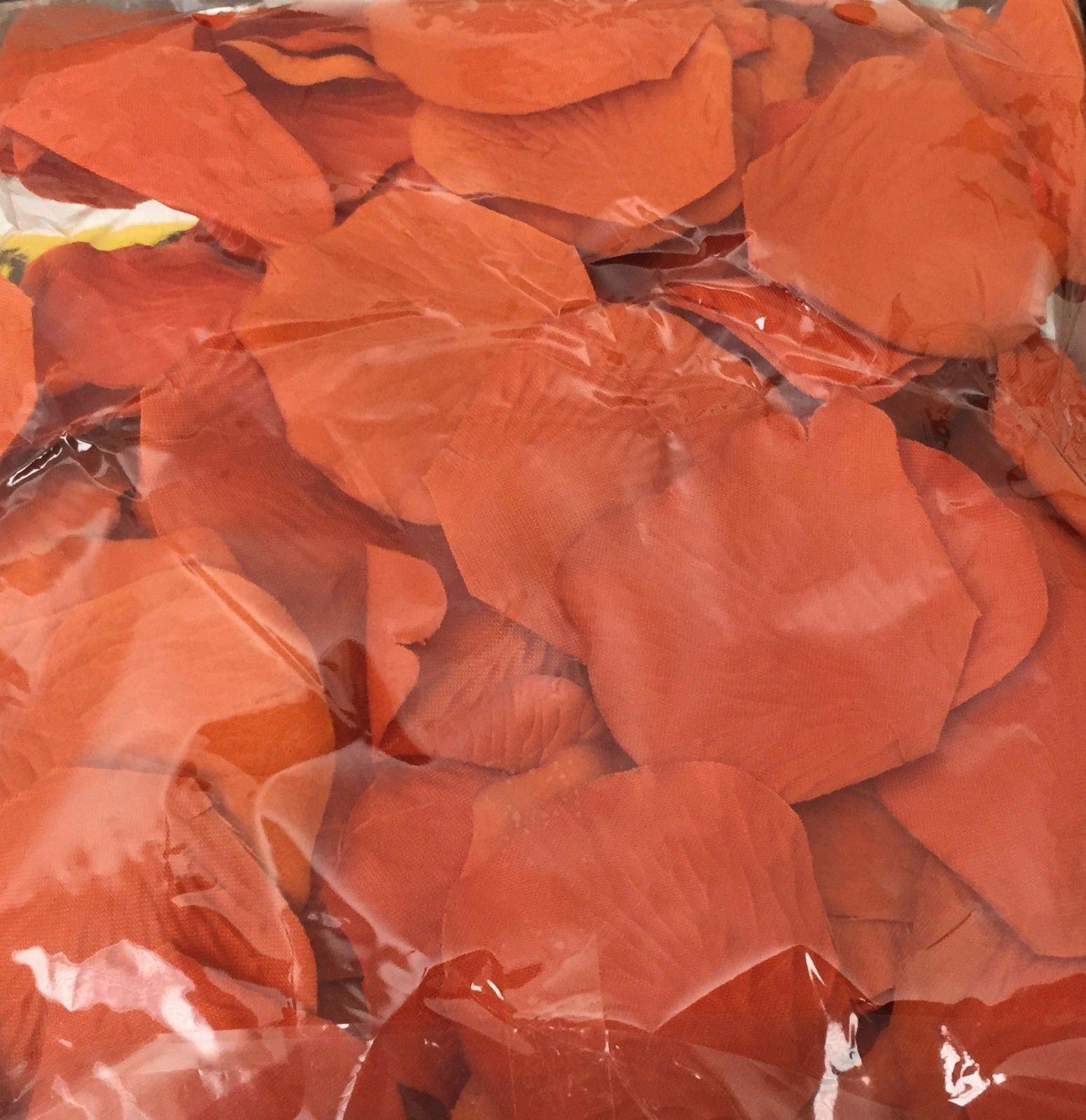 1000 Burnt Orange Color Fabric Rose Petals Bridal Wedding Decoration PartyFavor