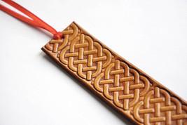 Leather Bookmark | Celtic Square Knots - $10.00