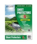 C-Line Biodegradable Poly Top Loading Sheet Protectors, Clear, 8.5 x 11 ... - $9.79