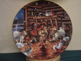 Country Christmas 1987 Collector Plate Lowell Davis Cow Calf Farm Animals Rare - $76.00