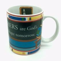 TEACHER Coffee Mug Teachers Are Gods Tools To Shape Tomorrow Christian W... - $13.32