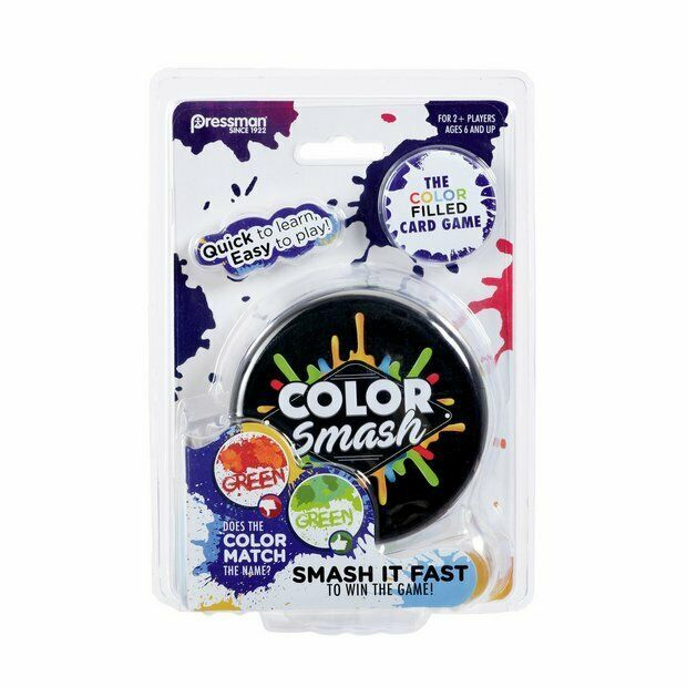 Primary image for Pressman Color Smash Color Filled Card Game - New