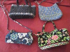 genuine vera bradley purse lot (S) qty 4 BEES, Flowers, Botanica B-grade... - £39.22 GBP