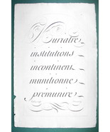 "1826 PENMANSHIP Calligraphy Sample - 12"" x 18"" (30 x 46 cm) Superb Print #9 - $30.34"