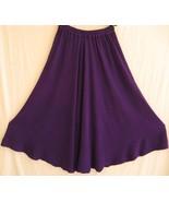 TIENDA HO~Purple~Boucle Stripe~MOROCCAN COTTON~NS6~FULL MIDI SKIRT~drape~OS - $69.99