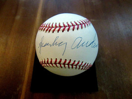 SPARKY ANDERSON REDS TIGERS HOF MANAGER SIGNED AUTO OML BASEBALL STEINER... - $247.49