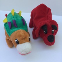 "Imperial Toy Co Dinosaur Pair Beanbag Plush Stuffed Animal Toy Loveys 7""... - $14.85"