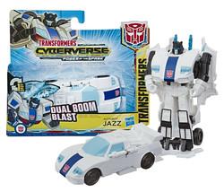 Transformers Cyberverse: Dual Boom Blast Autobot Jazz 1-Step Changer NIP - $12.88