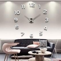 Wall Clocks Acrylic Mirror Stickers Home Decoration Living Room Quartz N... - $19.58+