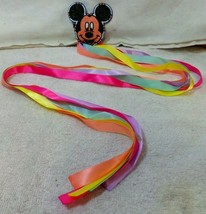"Native American Hand Made Beaded Mickey Mouse Hair Barrette 41"" Ribbon D... - $59.99"