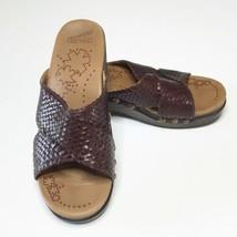 Dansko Sandals Brown Leather Basket Weave Size 38 Wedge  - $43.54