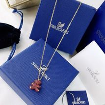 Swarovski Teddy 3D Pendant, Red, RHS Crystal necklace gift with box image 3