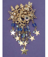 KIRKS FOLLY Baby Blue Angel BROOCH Pin -Cherub Dragonfly Stars-3 1/2 inc... - $64.49 CAD