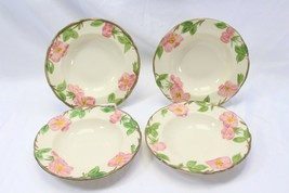"Franciscan Desert Rose England Rim Soup Bowls 8.25"" Lot of 4 - $48.99"