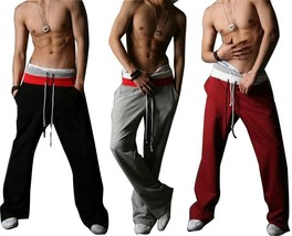 Men's Casual Stylish Rope long Sporting sweat Baggy Pants sports sportsw... - $36.72