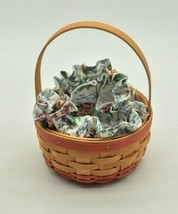 Longaberger Mothers Day Pink Round handle Basket with Jewelry Pouch Liner  - $39.99