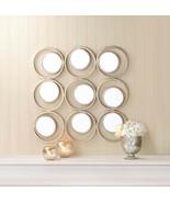 "Cool Mirror 30"" x 30"" Iron Circles Decorative Wall Modern Art Hall Bedro... - $126.89"