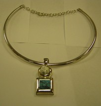 NECKLACE curved around neck with chain in back - $9.89