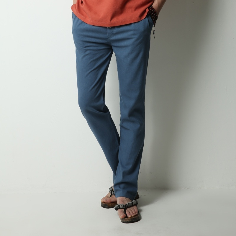 Men's Comfort Linen Casual Loose Pants image 8