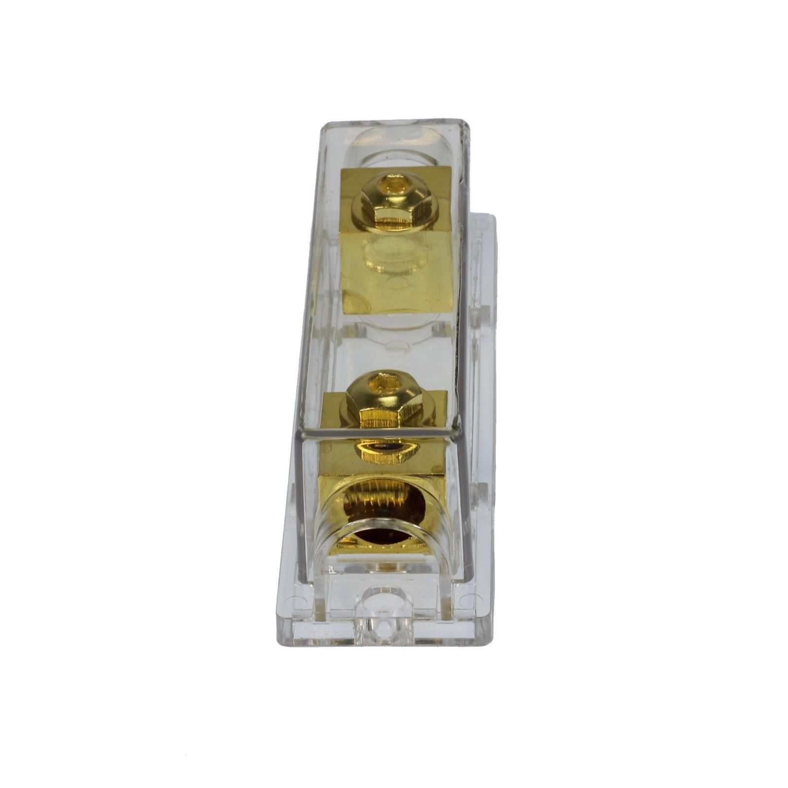 250 AMP ANL Fuse Gold Holder USA Car Audio  2//0 1//0 gauge no terminals needed