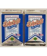 1991 Upper Deck Baseball Cards Lot of 2 (Two) Sealed Unopened Packs** - $17.80