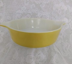 Pyrex Round Casserole Dish, Yellow Verde, Model 471, One Pint - $12.00