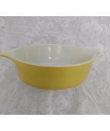 Pyrex Round Casserole Dish, Yellow Verde, Model 471, One Pint - $12.00