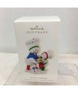 2008 Season's Treatings Snowman Hallmark Christmas Tree Ornament MIB Pri... - $32.18