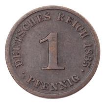1885-J Germany 1 Pfennig Very Fine Condition KM #1 - $31.19