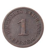 1885-J Germany 1 Pfennig Very Fine Condition KM #1 - $41.71 CAD