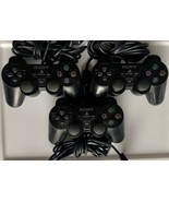 3 x Official Sony Playstation 2 DualShock Controller SCPH 10010 READ AS ... - $11.00