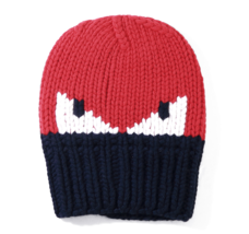 Fendi Monster Wool Beanie FXQ053 I1A F0QC9 Red Navy Made in Italy - Auth... - $371.50