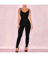 Summer Jumpsuits Solid Backless Spaghetti Straps Skinny Hot Fashion Clot... - $76.99