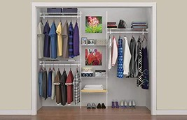 ClosetMaid 5636 SuperSlide 5-Feet to 8-Feet Closet Organizer Kit, (Organ... - $99.07