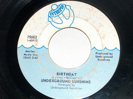 45 rpm underground sunshine all i want is you birthday intrepid record 7... - $11.89