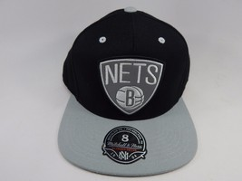 Brooklyn Nets Mitchell & Ness Size 8 Crown Fitted NBA Cap Hat Black Gray