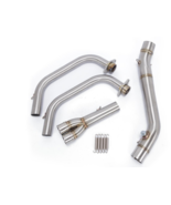 Motorcycle Muffler Middle Pipe Full System Exhaust For Yamaha MT03 MT-03 - $183.38