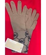 NEW Michael Kors glove tan signature Logo Fabric MK one size - $19.98