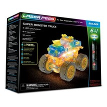 Laser Pegs Super Monster Truck 6-in-1 Building Set - $34.41
