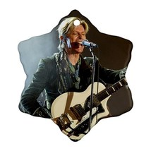Memorabilia Ornament - David Bowie Procelain Ornaments (Snowflake) Chris... - $2.99