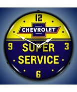 New old style Chevrolet Super Service bow tie LED LIGHT UP advertising c... - $159.95