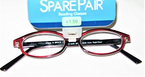 Primary image for Foster Grant Spare Pair Burgundy Oval Reading Glasses +1.50