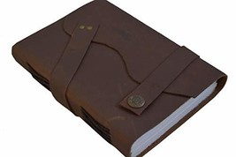 RKH Leather Journal Writing Notebook Handmade Leather Bound Daily Notepa... - $23.89