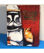 STAR WARS CLONE WARS COMPLETE SEASON ONE DVD 1 BOXED SET BOOK YODA ANAKI... - $19.80